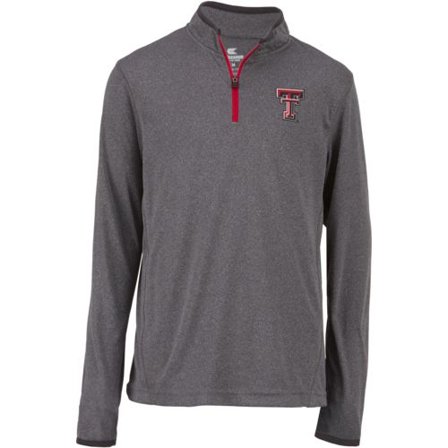 Colosseum Athletics Youth Texas Tech University Action Pass 1/4 Zip Wind Shirt