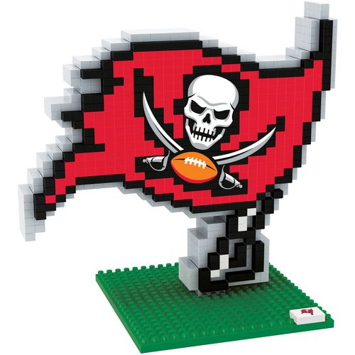 Forever Collectibles Tampa Bay Buccaneers 3-D BRXLZ Logo Puzzle