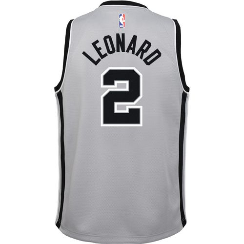 Nike Boys' San Antonio Spurs Kawhi Leonard 2 Swingman Statement Jersey