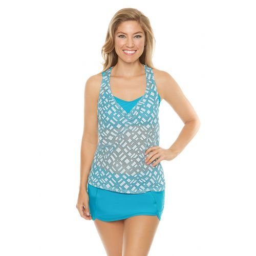 BCG Women's Geo Play 3-in-1 Tankini Swim Top