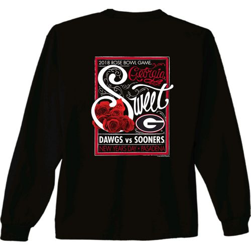 New World Graphics Women's University of Georgia Rose Bowl Sweet Long Sleeve T-Shirt