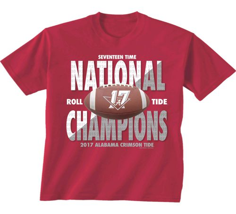 New World Graphics Men's University of Alabama 2017 CFP National Champs  T-Shirt