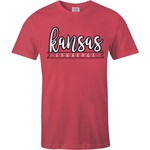 Image One Women's University of Kansas 2-Tone Patterned State T-shirt - view number 2