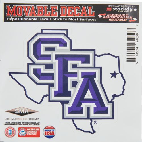 Stockdale stephen f austin state university 6 x 6 decal