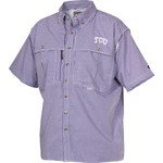Drake Waterfowl Men's Texas Christian University Plaid Wingshooter Fishing Shirt - view number 1