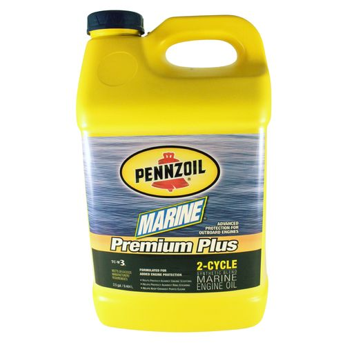 Pennzoil Marine Premium Plus 2.5-Gallon Synthetic Blend 2-Cycle Engine Oil - view number 1