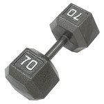 CAP Barbell 70 lb. Solid Hex Dumbbell