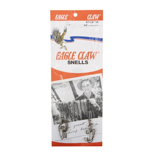 Eagle Claw Snelled Baitholder Single Hooks 24-Pack
