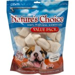 Nature's Choice Knotted Rawhide Dog Bones 7-Pack
