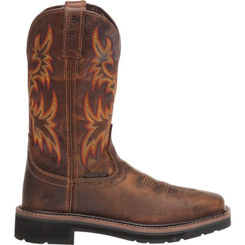 Display product reviews for Justin Women's Stampede Rugged Cowhide Steel Toe Western Work Boots