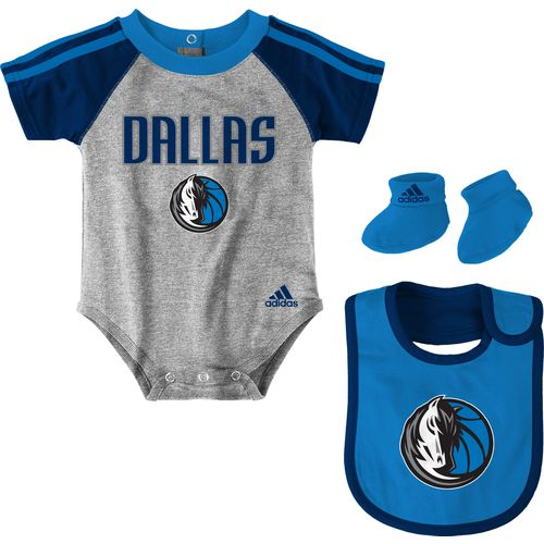 adidas™ Infants' Dallas Mavericks Creeper, Bib and Booties Set