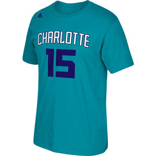 adidas™ Men's Charlotte Hornets Kemba Walker #15 Net Number T-shirt