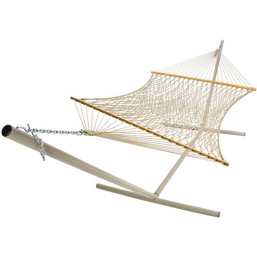 Medium image of castaway deluxe polyester rope hammock