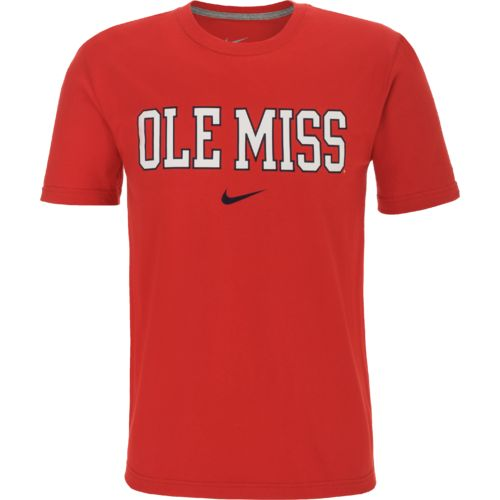 Nike™ Men's University of Mississippi Wordmark Cotton T-shirt