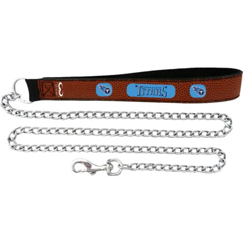 GameWear Tennessee Titans Football Leather Chain Leash