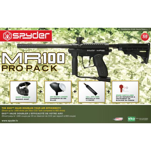 Spyder MR100 Pro RTP Paintball Marker Kit
