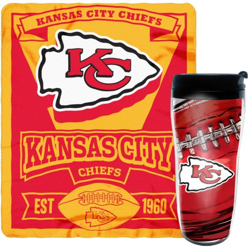 NFL Kansas City Chiefs Mug and Snug Fleece Throw and Travel Tumbler Gift Set