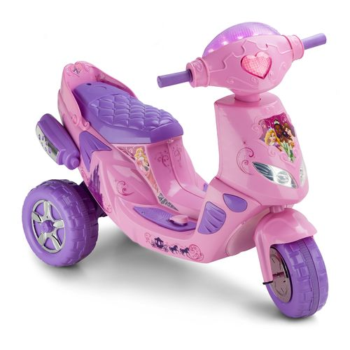 Display product reviews for KidTrax Girls' Disney Princess Twinkling Electric Scooter