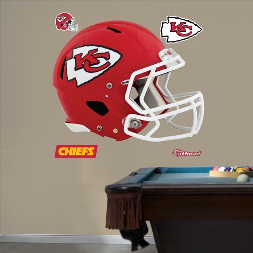Fathead Kansas City Chiefs Helmet and Team Decals 5-Pack