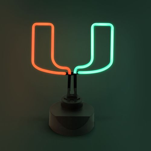 AES Optics University of Miami Table Top Neon Light