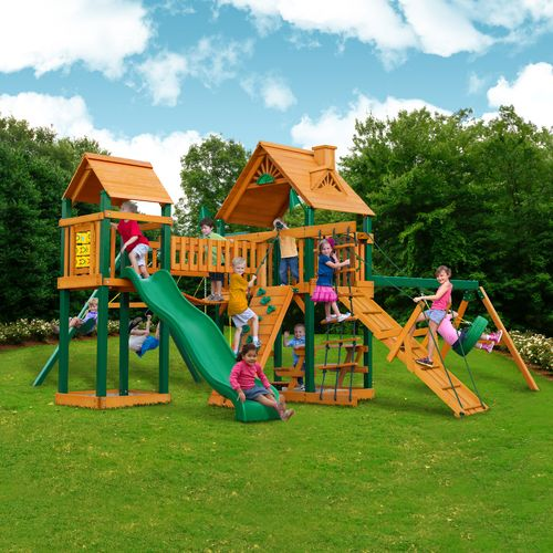 Gorilla Playsets™ Pioneer Peak Swing Set with Timber Shield™ - view number 2