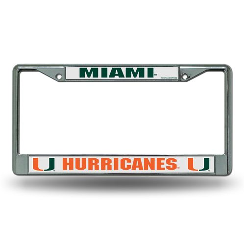 Rico University of Miami Chrome License Plate Frame