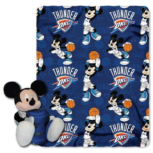 The Northwest Company Oklahoma City Thunder Mickey Mouse Hugger and Fleece Throw Set