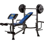Marcy Standard Weight Bench with 80 lb. Weight Set - view number 2
