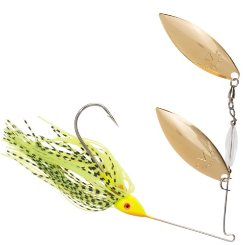 Hoppy's Emerald Tandem 3/8 oz. Gold Double Willow Wire Bait
