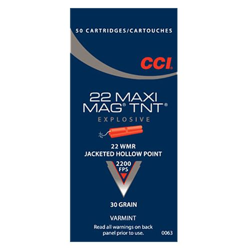 Display product reviews for CCI Maxi-Mag TNT .22 Win Magnum 30-Grain Jacketed Hollow Point Rimfire Ammunition