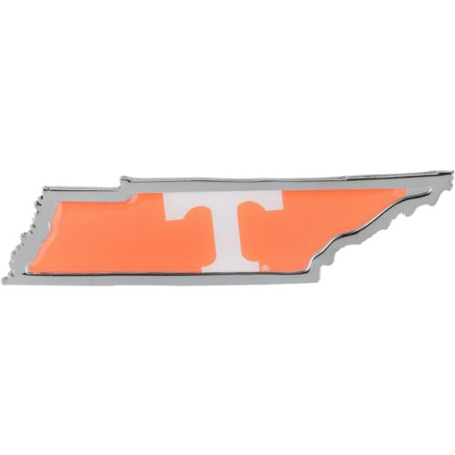Stockdale University of Tennessee Chrome State Shape Auto Emblem
