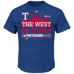 Majestic Youth Texas Rangers Division Champions T-shirt