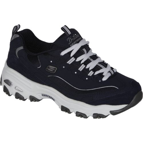 skechers d'lites white