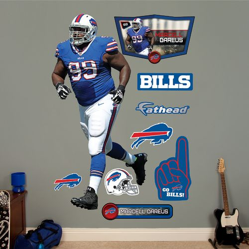 Fathead Buffalo Bills Marcell Dareus Home Real Big Wall Decal