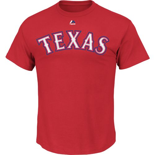 Display product reviews for Majestic Men's Texas Rangers Official Wordmark T-shirt
