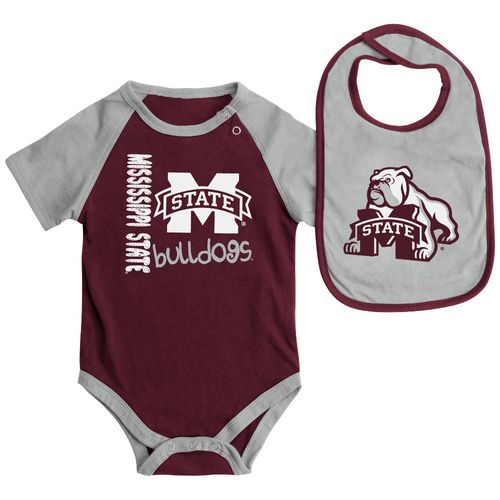Colosseum Athletics Infants' Mississippi State University Rookie Onesie and Bib Set