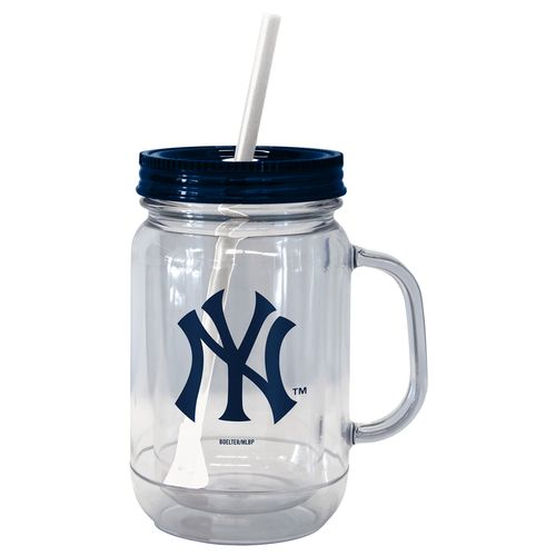 Boelter Brands New York Yankees 20 oz. Handled Straw Tumblers 2-Pack