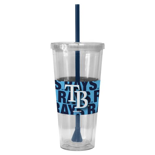 Boelter Brands Tampa Bay Rays Bold Neo Sleeve 22 oz. Straw Tumblers 2-Pack