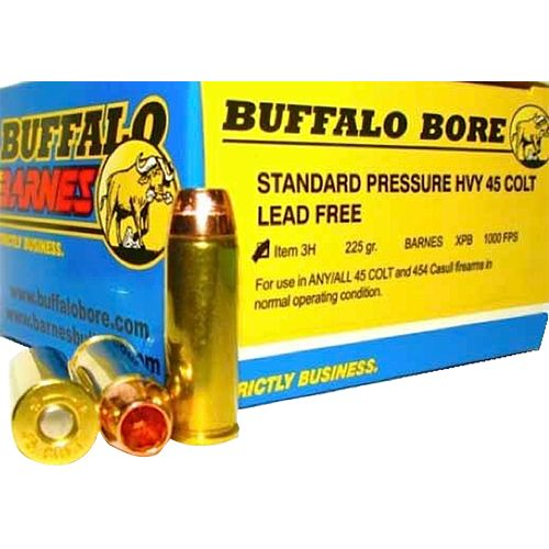Display product reviews for Buffalo Bore Lead-Free Standard Pressure Heavy .45 Colt LC 225-Grain Centerfire Handgun Ammunition