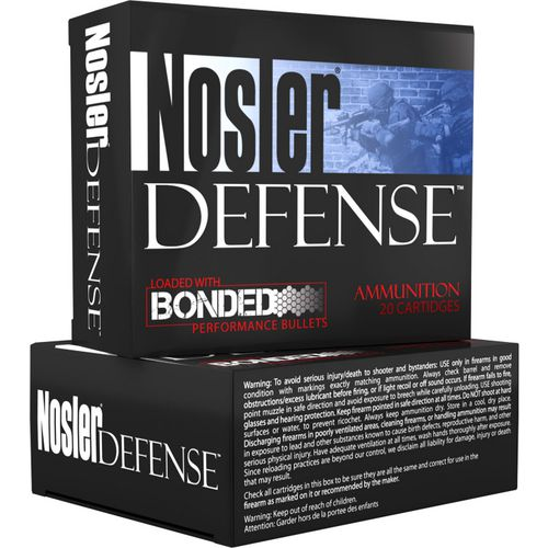 Nosler Defense Performance Bonded 9mm Luger 124-Grain Centerfire