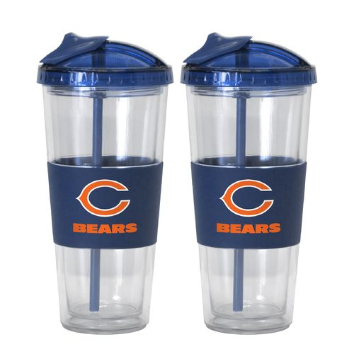 Boelter Brands Chicago Bears 22 oz. No-Spill Straw Tumblers 2-Pack