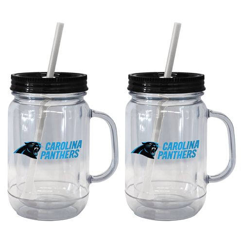 Boelter Brands Carolina Panthers 20 oz. Handled Straw Tumblers 2-Pack