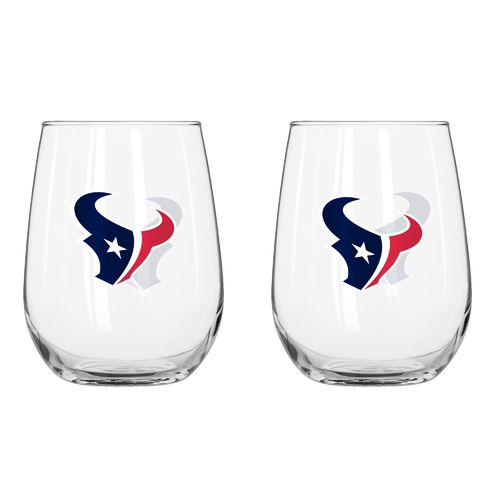 Boelter Brands Houston Texans 16 oz. Curved Beverage Glasses 2-Pack - view number 1