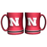 Boelter Brands University of Nebraska 14 oz. Relief Mugs 2-Pack