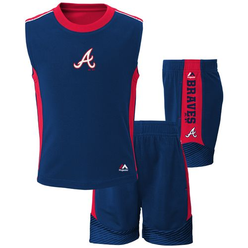 Majestic Boys' Atlanta Braves Slide Home Shirt and Short Set
