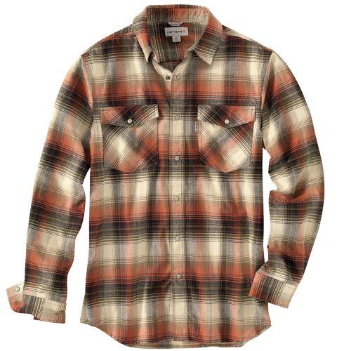 Carhartt Men's Trumbull Snap-Front Plaid Shirt