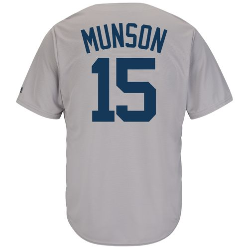 Majestic Men's New York Yankees Thurman Munson #15 Cooperstown Cool Base 1927 Replica Jersey