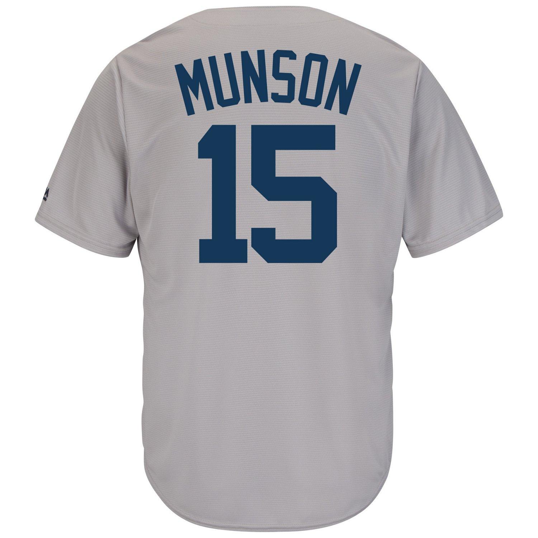 Majestic Men's New York Yankees Thurman Munson #15 Cooperstown Cool Base 1927 Replica Jersey