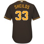 Majestic Men's San Diego Padres James Shields #33 Cool Base Replica Jersey