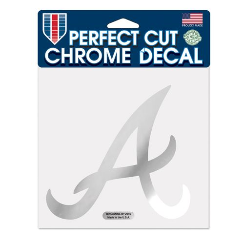WinCraft Atlanta Braves Chrome Perfect Cut Decal - view number 1